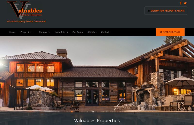 Valuables Properties has a responsive website